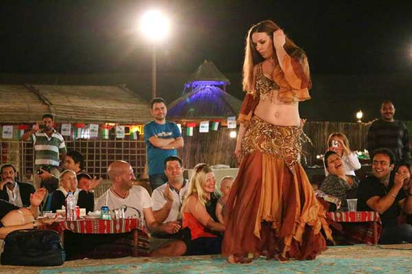 Belly-Dancer in Dubai Desert