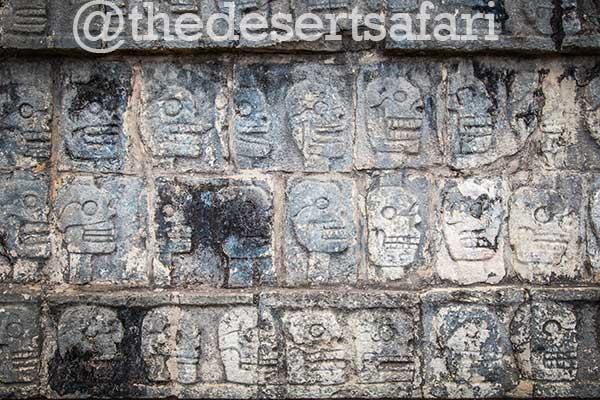 Wall of Skulls at Chichen Itza