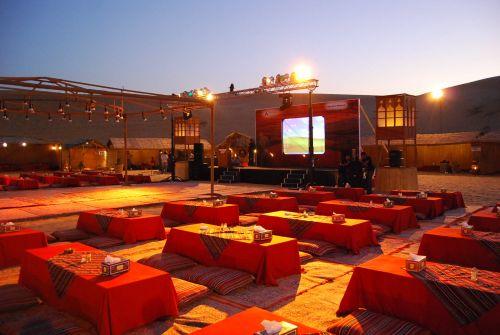 dinner in desert Al sahara