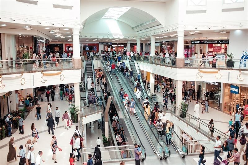 Shopping malls at Dubai