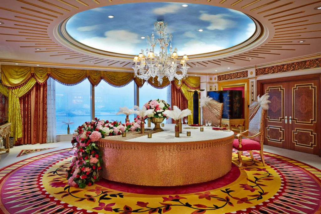 Table at Burj Al Arab