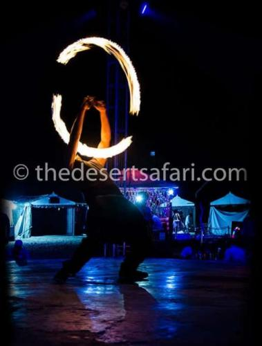 Fire Show At TDS Desert Camp