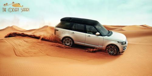 Landrover doing dune bashing