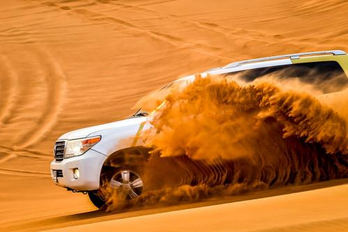 Morning Dune Bashing in Desert
