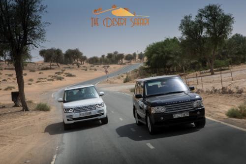 Range Rover in Dubai Desert