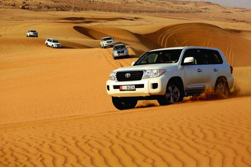 Group Enjoying Dune Bashing