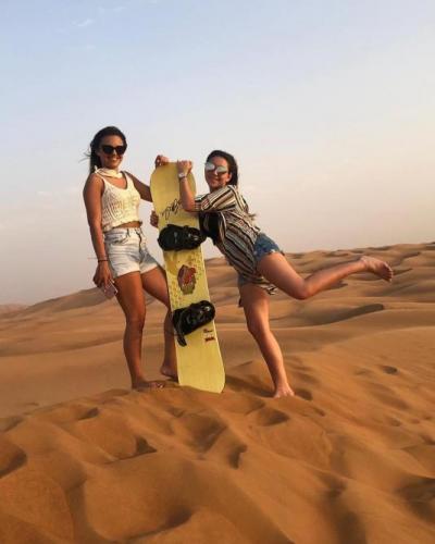 Sand Baording in Dubai Desert