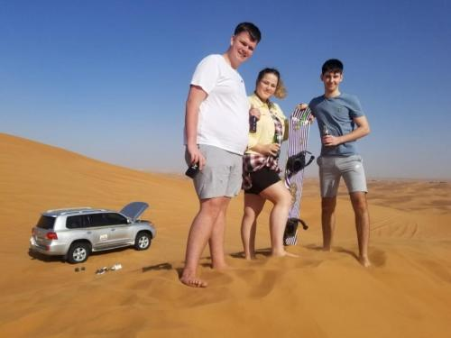 Harry's Family Enjoying The Morning Desert Safari.