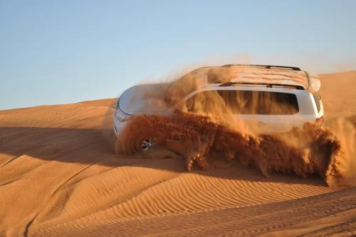 Dune Bashing During Morning Safari