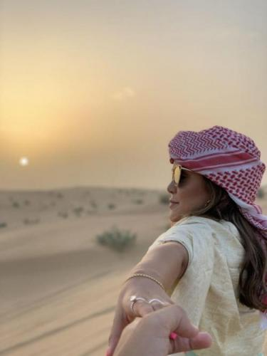 Sunset View of Dubai Desert